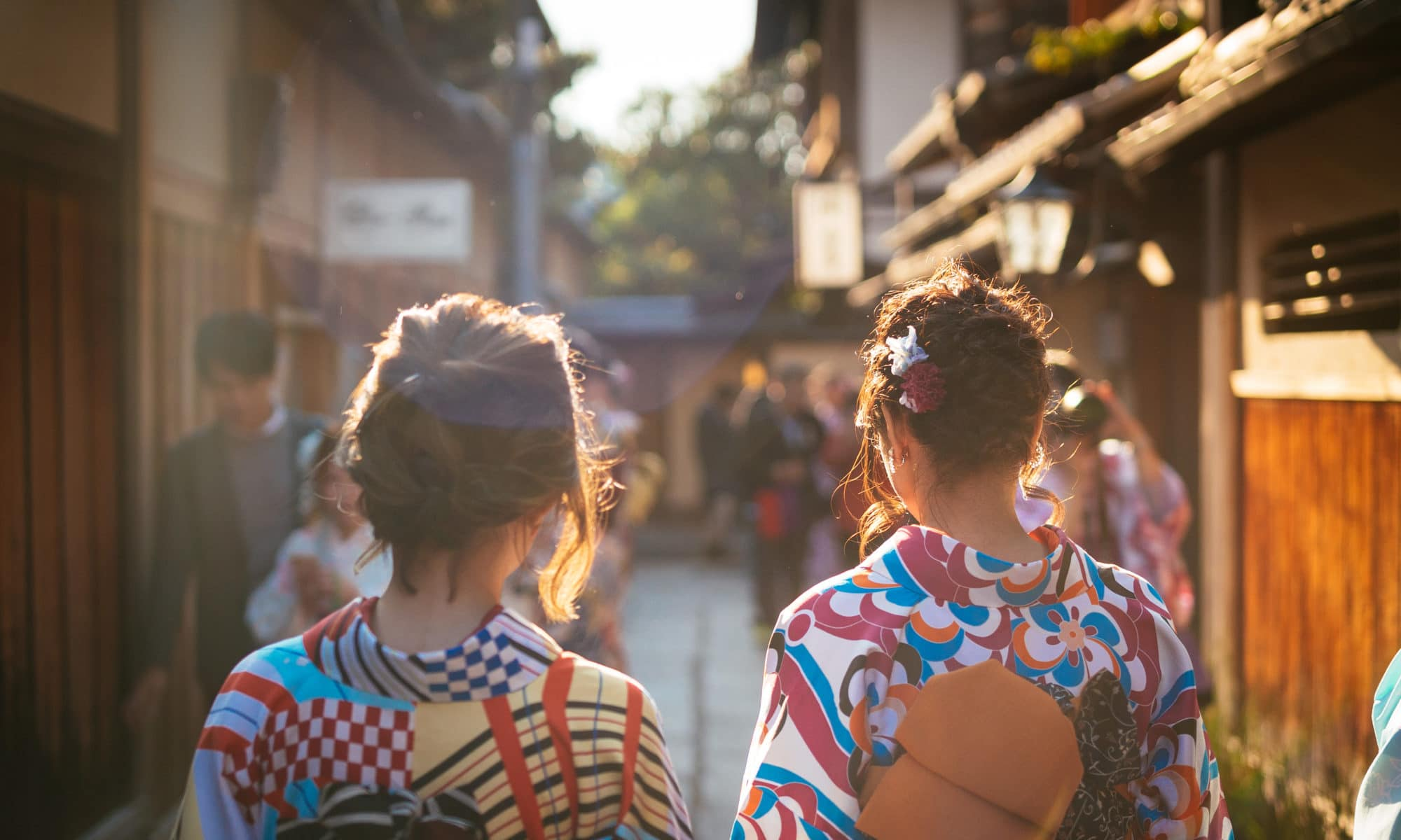 Kimonos à Kyoto